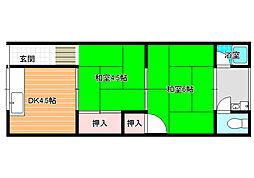 青山荘[204号室]の間取り