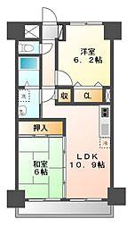カーサシーガル壱番館[2階]の間取り