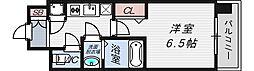 レジュールアッシュ京橋CROSSII[10階]の間取り