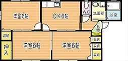 グリーンビレッジ湯川IIB棟[2階]の間取り