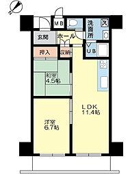 第20柴田マンション[5階]の間取り