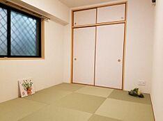 おしゃれな琉球畳を使用しております。