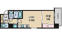 SERENITE新大阪[8階]の間取り