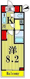 東武伊勢崎線 鐘ヶ淵駅 徒歩6分の賃貸マンション 1階1Kの間取り