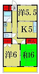 ヨコタハイツ[305号室]の間取り