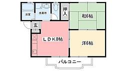 ローズハイム甲子園[B-101号室]の間取り