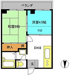 メゾンドリビエール2[3階]の間取り