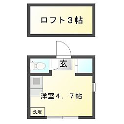 神奈川県川崎市幸区古市場2丁目の賃貸アパートの間取り
