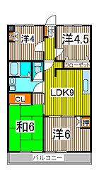 サンライト南浦和2番館[4階]の間取り