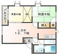 シャルマンハウスK[2階]の間取り