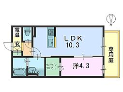 INCONTRO[2階]の間取り