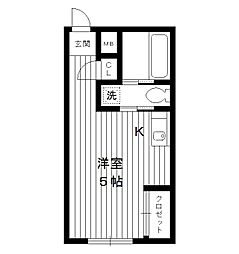 東京都豊島区長崎6丁目の賃貸マンションの間取り