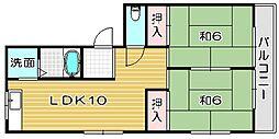 大阪府高槻市氷室町4丁目の賃貸マンションの間取り