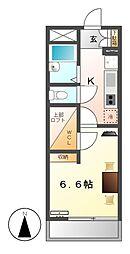レオパレスKATOH II[4階]の間取り