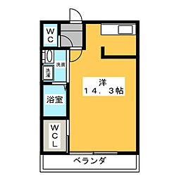 LA NAKA[2階]の間取り