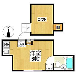 東京都狛江市岩戸北2丁目の賃貸アパートの間取り