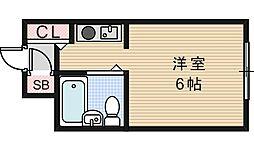 アートファインド天王寺[1階]の間取り