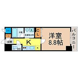 名古屋市営名城線 大曽根駅 徒歩4分の賃貸マンション 10階1Kの間取り