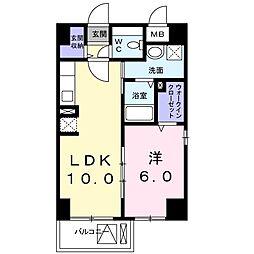 エタニティヨコハマ[5階]の間取り