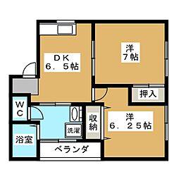 セリア田町[1階]の間取り