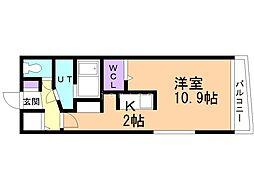 レジーナ二十四軒 3階1Kの間取り