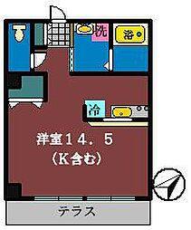グローバルガーデンシティAB棟[B106号室]の間取り