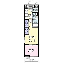 エクロジオン[3階]の間取り