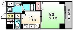 メゾン材木町[2階]の間取り