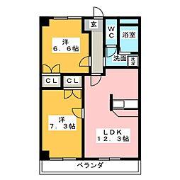 オータムライトIII[3階]の間取り