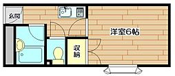 アメニティ91[1階]の間取り