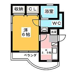 リエス上島 A館[3階]の間取り