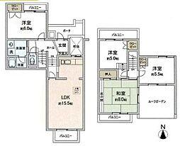 研究学園(1)団地213号棟 203号室