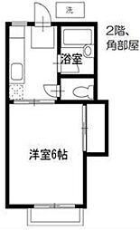ホワイトヴィラ飯田橋[205号室号室]の間取り