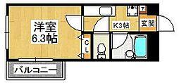 LEO五番館[201号室]の間取り