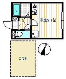 スカイガーデン横濱[2階]の間取り