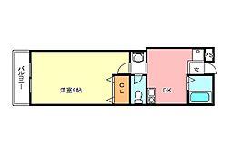 サンハイム千代田[1階]の間取り