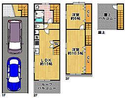 [一戸建] 大阪府大阪市大正区三軒家東5丁目 の賃貸【/】の間取り