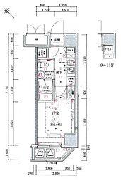 リヴシティ横濱関内[303号室]の間取り