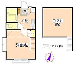 コートクラール[1階]の間取り
