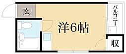 ゴールドテラオ[1階]の間取り