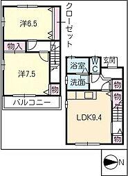 [タウンハウス] 三重県鈴鹿市算所5丁目 の賃貸【/】の間取り