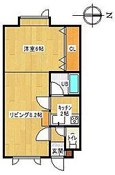 ラピュタハウスB[B22号室]の間取り