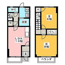 [テラスハウス] 愛知県岡崎市橋目町字東水通 の賃貸【/】の間取り