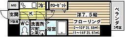 レジュールアッシュ北大阪グランドステージ[503号室]の間取り