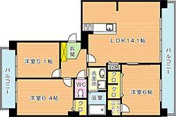 リヴィエール本城II(分譲賃貸)[3階]の間取り