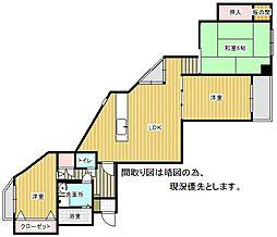 メゾンボヌール小笹[2B号室]の間取り