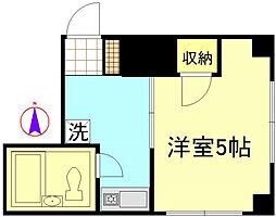 神奈川県横浜市金沢区能見台通の賃貸マンションの間取り