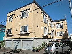 北海道札幌市東区北三十九条東7丁目の賃貸アパートの外観