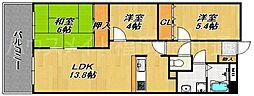 ドームサイト今川[4階]の間取り