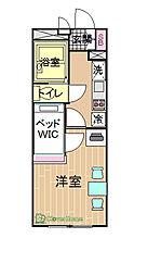 神奈川県相模原市南区大野台1丁目の賃貸アパートの間取り